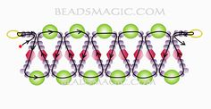 Free pattern for beaded necklace Ice Lady | Beads Magic