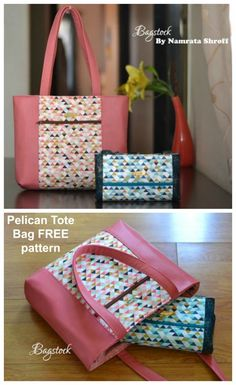 This easy to sew tote bag comes in two different versions. A fold up tote bag for your groceries, or use foam for a smart tote bag purse to sew. Tote bag pattern for beginners. Free sewing pattern for a tote bag. Quilted Purse Patterns, Handbag Patterns, Bag Patterns To Sew, Tote Pattern, Diy Purse Patterns Free, Easy Tote Bag Pattern Free, Wallet Pattern, Quilted Tote Bags, Diy Tote Bag