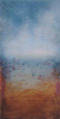 """Lidia Zdzieszyńska """"Od świtu do zmierzchu"""", olej na płótnie /""""From dawn to dusk"""", oil on canvas/, 60x120cm"""