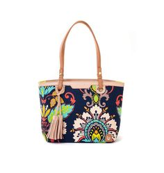 Very Versatile The Island Tote Features A Zipper Top Closure And Dash Of