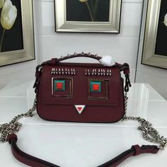 2017 Spring Fendi Double Micro Baguette Bag with Multicolored metal  appliqués and Square Eyes motif f0c0681c9de8d