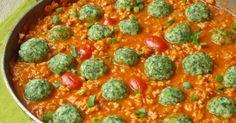 Jaglane klopsiki ze szpinakiem w sosie pomidorowym.  Sprawdź!