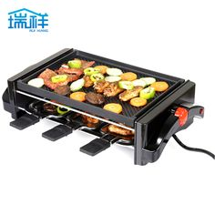 Tiger electric BBQ household electric oven grill meat machine barbecue machine electric hotplate teppanyaki cabob pot