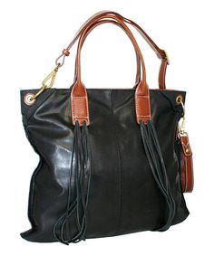 This Nino Bossi Handbags Black Water Lily Petal Leather Tote By Is Perfect Zulilyfinds