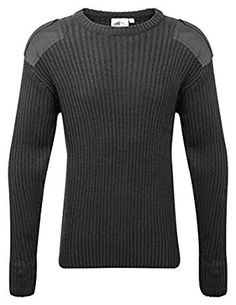 d6b90edd039 Adults Crew Neck Military Army Security Pullover Jumper Commando Sweater  Police MOD NATO SAS Knitted With
