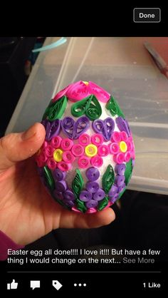 Quilled Easter egg!!