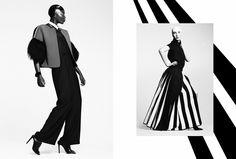 // MAVERICK MONOCHROME //  Photographer: Agata Stoinska /  Stylist: Tanya Grimson /  Models: Danielle & L'Or - Morgan The Agency /  Hair Stylist: Kevin Murphy /  Make-Up: Nikki Buglewicz //  ASS SEEN ON http://www.maven46.com/edito…/maverick-monochrome/editorial/