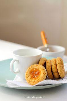 ricotta...che passione: Biscotti di mais e riso con confettura. Senza glutine.