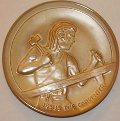 Frankoma Youth for Christ Plate Jesus the Carpenter 1972 by Joniece Frank VTG