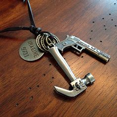 Car Accessories, Rearview Mirror Charm, Cowgirl Keychain, Soldiers Care Package, And Hammer and Gun Car Charm for all Automobiles by DorysBoutique on Etsy