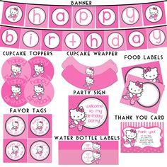 Hello Kitty Ballerina  Birthday Printable Package - Hello Kitty Birthday. $20.00, via Etsy.
