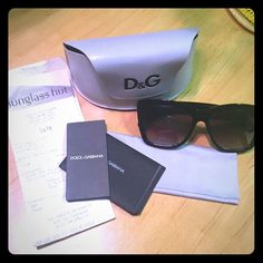 Black Dolce & Gabbana sunglasses Authentic like new all black Dolce & Gabbana sunglasses; with cleaning cloth, case and paperwork. Very chic and perfect for the summer time. Dolce & Gabbana Accessories Sunglasses