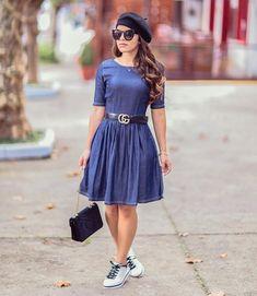 Bom dia ❤️❤️ Amores ! Tudo bem meninas? Iniciando a semana com fofura! #vestidojeans #lookdodia #modaevangelica #modacrista #modagospel #evangelicastop #evangelicasnamoda #denim #tendencia #eusoumulherdefibra