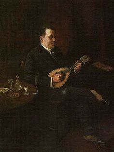 Charles Spencelayh ~ 'The Mandolin Player', 1929