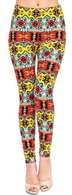 Printed Brushed Leggings - Retromatic  #Leggings #VIVCollection #Fashion #OOTD