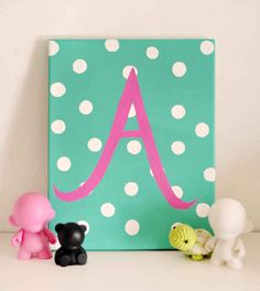 Monogram Canvas Art | 28 Gifts To Make When You're Broke