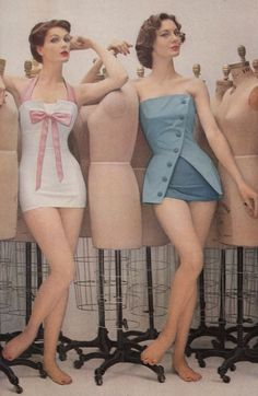 Early Swimwear, love these! Women's vintage fashion images photo photography for summer – Dress Archive Moda Retro, Moda Vintage, Vintage Vogue, Vintage Glamour, Vintage Beauty, Vintage Ladies, Vintage Lingerie, Vintage Bathing Suits, Vintage Swimsuits