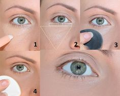 A trick on the concealer that allows you to avoid sneaking into the rughet … – Makeup Tricks Beauty Make Up, Diy Beauty, Brunette Makeup, Makeup For Blondes, Eye Contour, Body Makeup, Make Me Up, Face Shapes, Makeup Cosmetics
