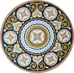 "Model:	 WR-820 Size:	 Diameter 36""x1/2""T Description:	 Rojo alicante, Nero Marquine, Inca Gold, Cream Marfil, Artificial Blue Marble Finish:	 Polished Material:	 Marble - Aluminum Backing Inca, Floor Patterns, Marble Floor, Moroccan Style, Stencil, Decorative Plates, Tile, Mandala, Flooring"