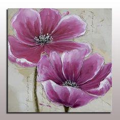 Flor de la Pintura Al Óleo Para Colgar En La Pared de la Sala Decorativa Pintura Al Óleo Del Arte En la Lona de Acrílico Hermosa Imagen de la Flor                                                                                                                                                                                 Más