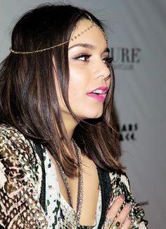 This pink lipstick looks great on Vanessa Hudgens
