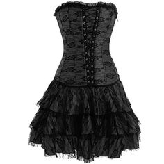 Black Gothic Lace Corset Outfit and the price is right only $ 35...add a black top and tights of course