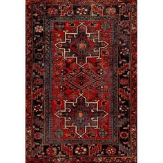 World Menagerie Brahim Southwestern Dark Red/Black Rug & Reviews   Wayfair Persian Motifs, Classic Rugs, Polypropylene Rugs, Oriental Pattern, Tribal Patterns, Red Rugs, Persian Carpet, Carpet Runner, Tribal Rug