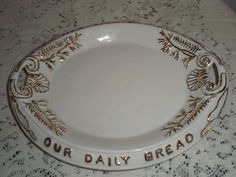 Porcelain serving platter 'Our Daily Bread Bread