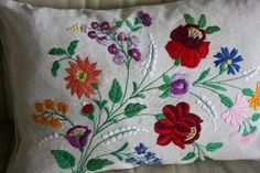 Vintage antique embroidered pillowcase HEIRLOOM by PitzicatVintage, $50.00