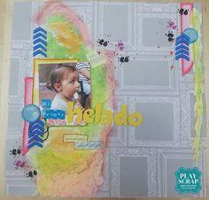 Reto 414 Playscrap-Inma l-Explosión de color Scrap, Diy, Layouts, Scrapbook, Beach, Colors, Projects, Bricolage, Tat