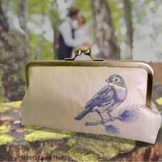 Bird on a Branch Silk Clutch Perfect Bird Wedding by ClutchThat, $64.99