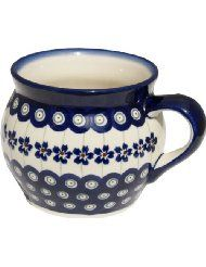 Polish Pottery Bluebell Coffee Mug