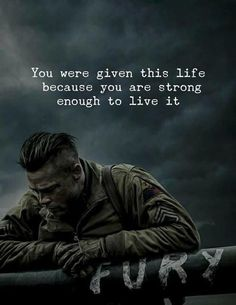 Quotes : You were given this life because you are strong. Positive Quotes : You were given this life because you are strong.Positive Quotes : You were given this life because you are strong. Wisdom Quotes, Words Quotes, Quotes To Live By, Me Quotes, Motivational Quotes, Inspirational Quotes, Fury Quotes, Sayings, Citations Instagram
