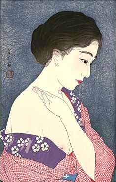 "Japanese Art Print ""No. 8 - Applying Powder"" from the Series ""Twelve Aspects of Women"" by Torii Kotondo.  http://www.amazon.com/dp/B00WU0PRCO/ref=cm_sw_r_pi_dp_Pvyswb114RBPB"