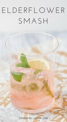 With spring approaching, it is time once again to try your hand at refreshing colorful cocktails with fresh, spring-like flavors. If there is one taste that embodies the season's floral breeze it is Elderflower. Its blossoms can adorn drinks and delicately float in champagne or its flavor can be found in St. Germain liquor made from the blossoms themselves. Either way, the aroma is fruity and refreshing and can be used in a variety of drinks.Here is one that is sure to be smashing!