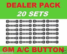 2007-2013 GM TRUCKS CLIMATE CONTROL DECALS A/C REPAIR DECAL MASTER SET