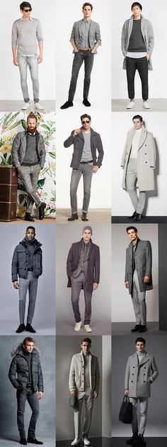 Men's All-Grey Outfit Inspiration Lookbook