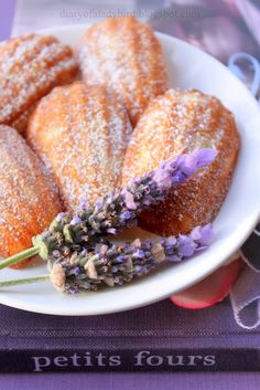 Lavender and Honey Madeleines