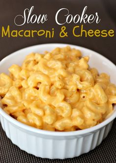 Mac & Cheese In The Crockpot Recipe. This is also worth trying - I love macaroni and cheese!