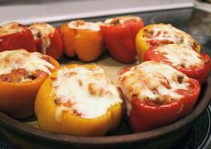 Stuffed pepper ideas... Minimal or no cheese!