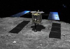 Artist's concept of the Hayabusa 2 spacecraft at asteroid Ryugu. Credit: JAXA/Akihiro Ikeshita