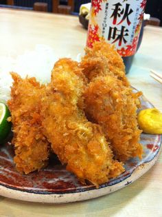 Fried oyster (満津田、飯田市)