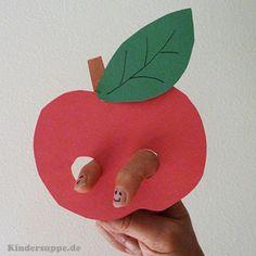 Apfelpuppe Bastelidee und Fingerspiel fur Kindergarten