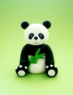 Fondant Animal Panda Cake Topper Fondant by SugarDecorByLetty