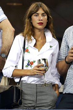 Alexa Chung at the US Open. Celebrities got sporty as they flocked to watch tennis over the weekend. See their looks here: