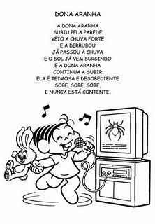 Atelie Doce Magia em Ensinar: ATIVIDADES PARA O PROJETO DONA ARANHA - APRENDENDO ATRAVÉS DA MUSICA