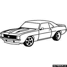 chevrolet camaro 1969 coloring page