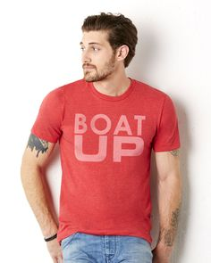 Boat Up red triblend #boating #boatup #goboating #kcco #lakelife #wakeboarding #boatlife #onlineshirts #tees #tshirts #boating