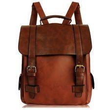 Vintage Women Motorcycle Casual Backpack Handbag Travel Waterproof Shoulders Bag