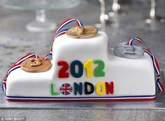 This sticky toffee Olympic podium cake makes for a fine afternoon treat